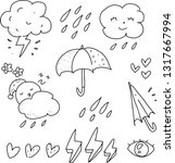 weather icon hand drawn | Shutterstock .eps vector #1317667994