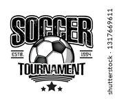 soccer logo design template....   Shutterstock .eps vector #1317669611