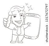 say hello cartoon | Shutterstock .eps vector #1317672797