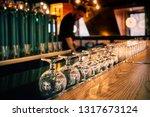 Rows Of Clean Empty  Wine  Beer ...