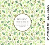 banner with flower and place... | Shutterstock .eps vector #131768309
