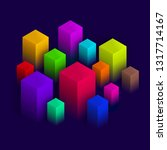 isometric abstract design ... | Shutterstock .eps vector #1317714167