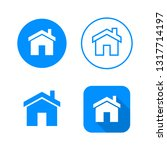 home icon  four variants ... | Shutterstock .eps vector #1317714197