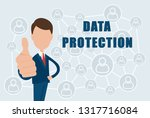 data protection text on the... | Shutterstock .eps vector #1317716084