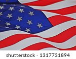 united states flag with stars... | Shutterstock . vector #1317731894