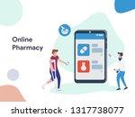 online pharmacy illustration.... | Shutterstock .eps vector #1317738077