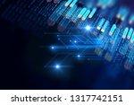 abstract  futuristic... | Shutterstock . vector #1317742151