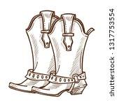 american symbol cowboy boots...   Shutterstock .eps vector #1317753554
