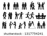 happy lesbian female couple.... | Shutterstock .eps vector #1317754241