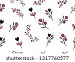 leaf and flower seamless...   Shutterstock .eps vector #1317760577