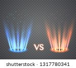 versus round blue and red glow... | Shutterstock .eps vector #1317780341
