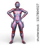 3d cg rendering of cyber man | Shutterstock . vector #1317804527