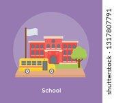 a secondary school building ... | Shutterstock .eps vector #1317807791