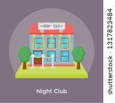 night club flat icon  | Shutterstock .eps vector #1317823484