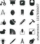 solid black vector icon set  ... | Shutterstock .eps vector #1317830657