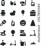solid black vector icon set  ... | Shutterstock .eps vector #1317831464