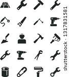 solid black vector icon set  ... | Shutterstock .eps vector #1317831581