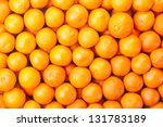 Tangerines As The Background....