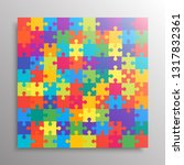pieces puzzle background ...   Shutterstock .eps vector #1317832361