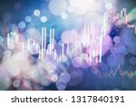 technical price graph and... | Shutterstock . vector #1317840191
