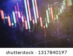 technical price graph and... | Shutterstock . vector #1317840197