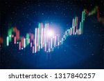 graph with diagrams on the... | Shutterstock . vector #1317840257