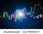 technical price graph and... | Shutterstock . vector #1317840317