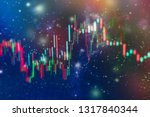 technical price graph and... | Shutterstock . vector #1317840344