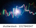 technical price graph and... | Shutterstock . vector #1317840347