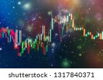 technical price graph and... | Shutterstock . vector #1317840371