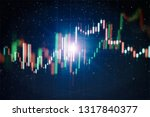 technical price graph and... | Shutterstock . vector #1317840377