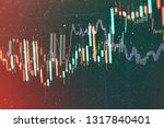 technical price graph and... | Shutterstock . vector #1317840401