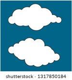 set of cloud icons in trendy... | Shutterstock .eps vector #1317850184