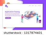 mobile application development  ... | Shutterstock . vector #1317874601