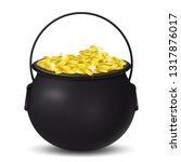 golden coins st. patrick's day  | Shutterstock .eps vector #1317876017