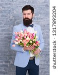 invite her dating. romantic man ... | Shutterstock . vector #1317893204