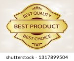 luxury golden retro labels for... | Shutterstock .eps vector #1317899504