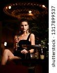 beautiful sexy fashion brunette ... | Shutterstock . vector #1317899537