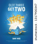 buy 3 get 2 free vector... | Shutterstock .eps vector #1317900347