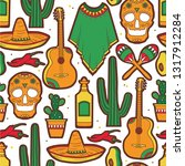 seamless pattern with... | Shutterstock .eps vector #1317912284