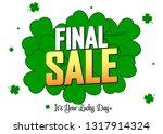 final sale  promotion banner...   Shutterstock .eps vector #1317914324