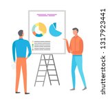 information on whiteboard ... | Shutterstock .eps vector #1317923441