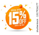 sale 15  off  special offer ... | Shutterstock .eps vector #1317926177