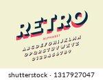 modern font design in retro... | Shutterstock .eps vector #1317927047