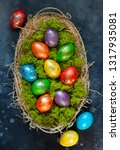 easter composition with...   Shutterstock . vector #1317935081