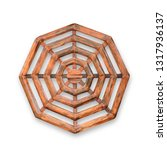 wooden octagon isolated on... | Shutterstock . vector #1317936137