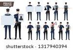 police vector character set.... | Shutterstock .eps vector #1317940394