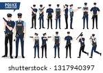 police vector character set.... | Shutterstock .eps vector #1317940397