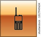 black walkie talkie icon... | Shutterstock .eps vector #1317949634