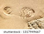 beautiful footprints in the... | Shutterstock . vector #1317949667